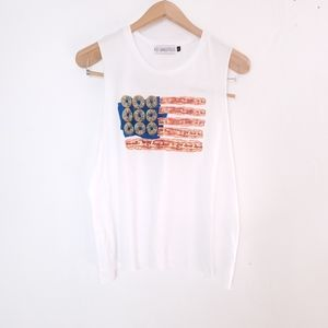 Bacon & Donuts American Flag Graphic Tee